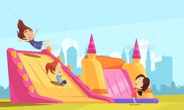 Bouncy Castle Flat Composition - Sports/Activity Conceptual