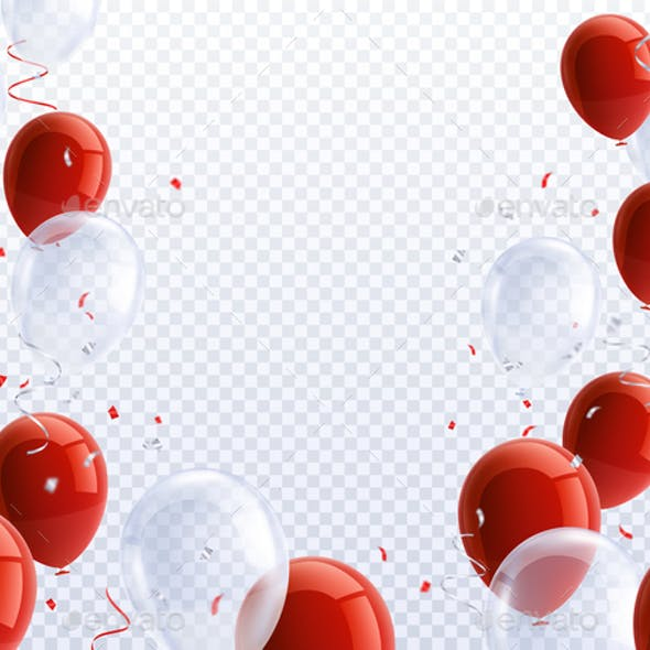 Party Balloons Transparent Background