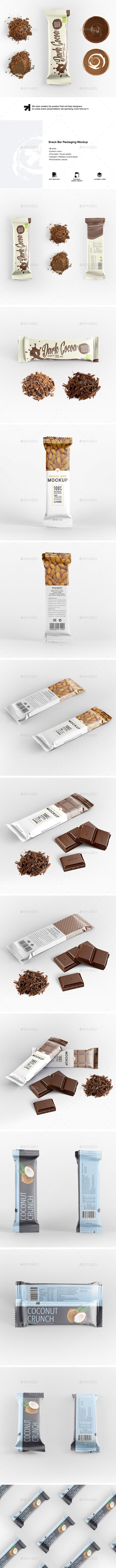 Snack Bar Packaging Mockup - Food and Drink Packaging