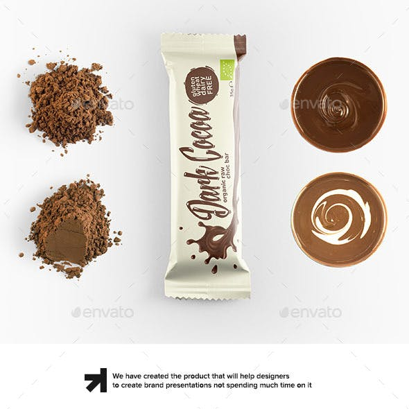 Snack Bar Packaging Mockup