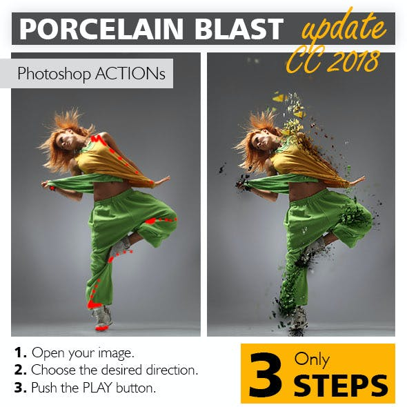 Porcelain Blast Photoshop Action