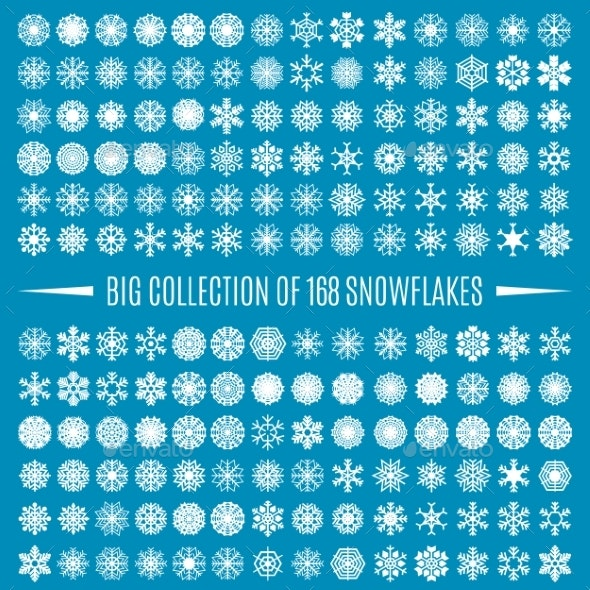Collection of Snowflakes - Decorative Symbols Decorative