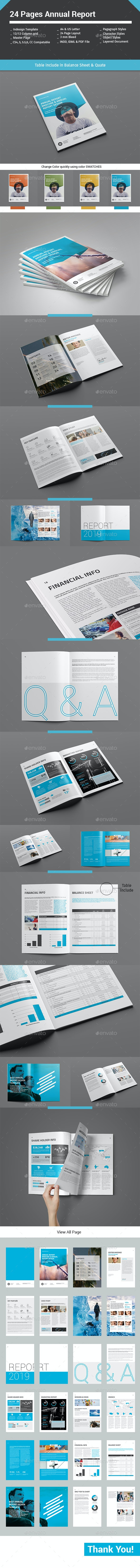 24 Pages Annual Report - Informational Brochures