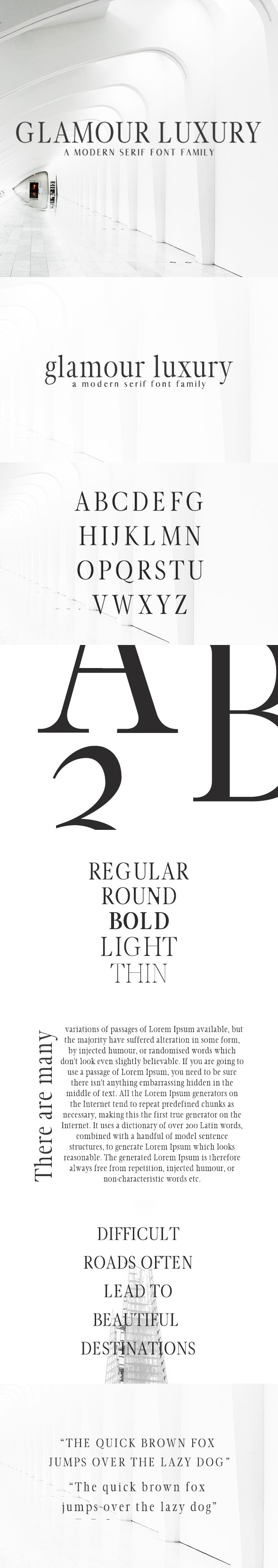Glamour Luxury Serif Font Family - Serif Fonts