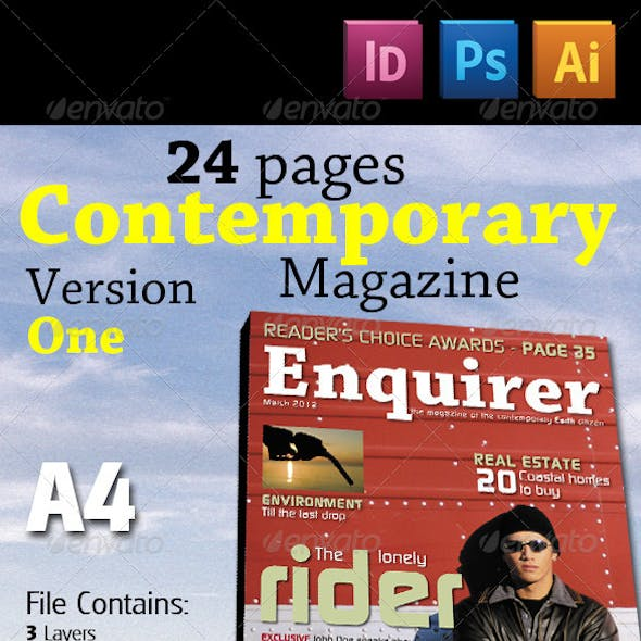 24 Pages Contemporary Magazine Version One