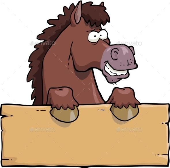 Cartoon Horse Head - Miscellaneous Vectors