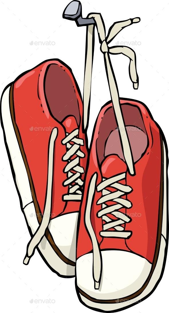 Shoes on a Nail - Miscellaneous Vectors
