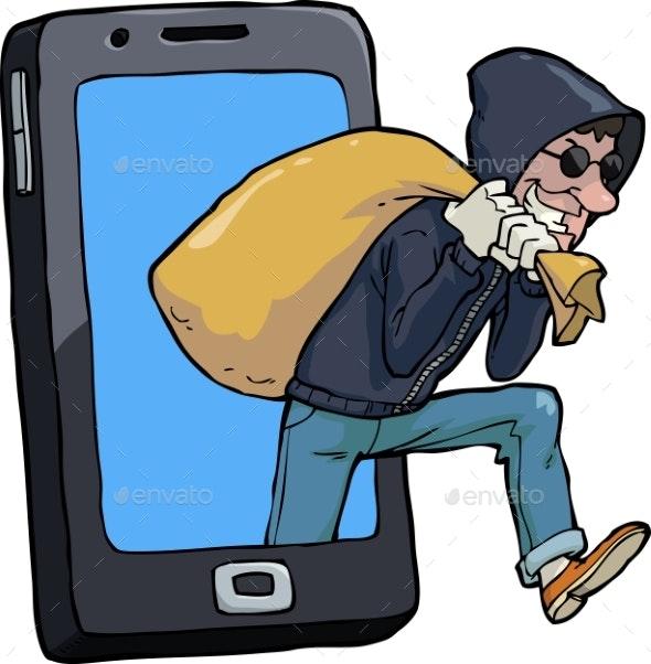 Thief of Smartphone - Miscellaneous Vectors