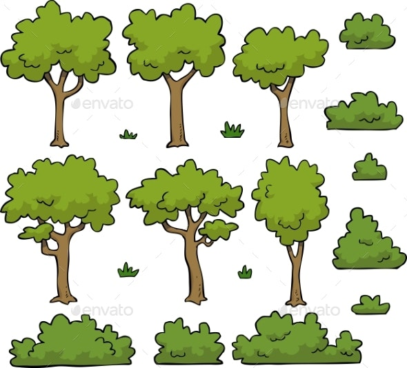Trees and Bushes - Miscellaneous Vectors