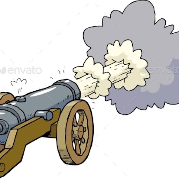 Cartoon Artillery Cannon