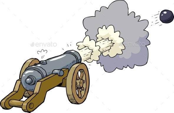 Cartoon Artillery Cannon - Miscellaneous Vectors