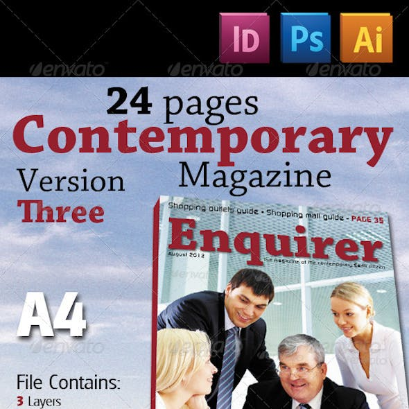 24 Pages Contemporary Magazine Version Three