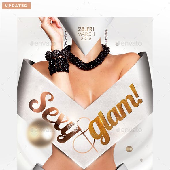 Sexy & Glam Flyer Template