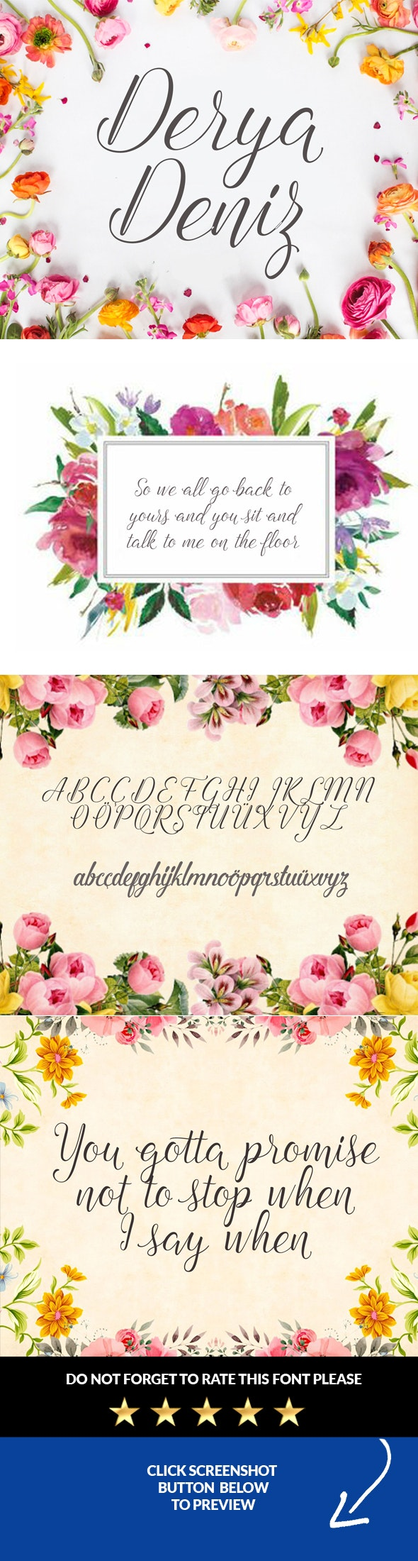 Deryadeniz Script Font - Calligraphy Script