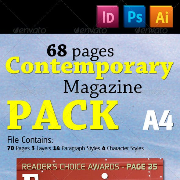 68 Pages Contemporary Magazine Pack