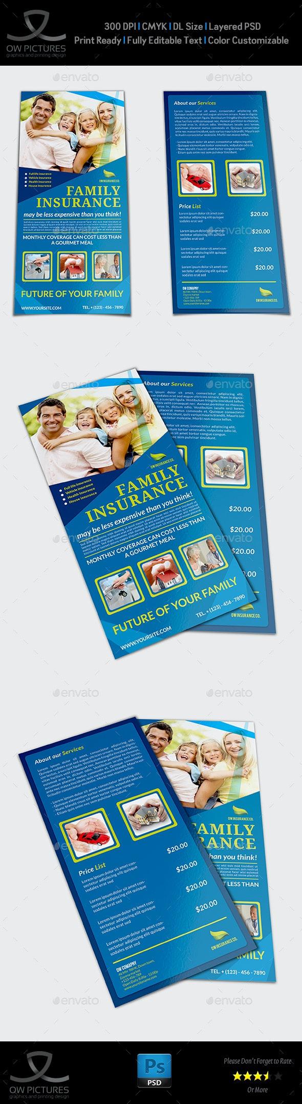 Insurance Flyer Template DL Size - Flyers Print Templates