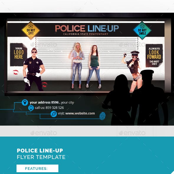 Police Line-Up Flyer Template