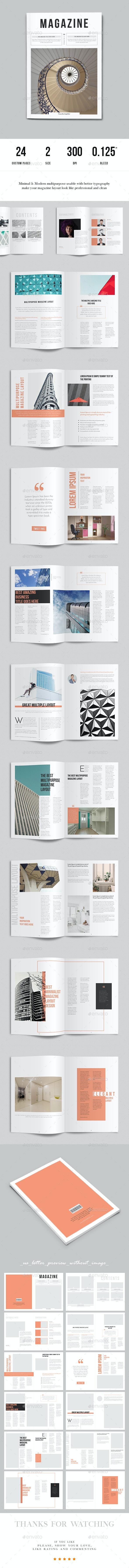 Minimalist Magazine Layout - Magazines Print Templates