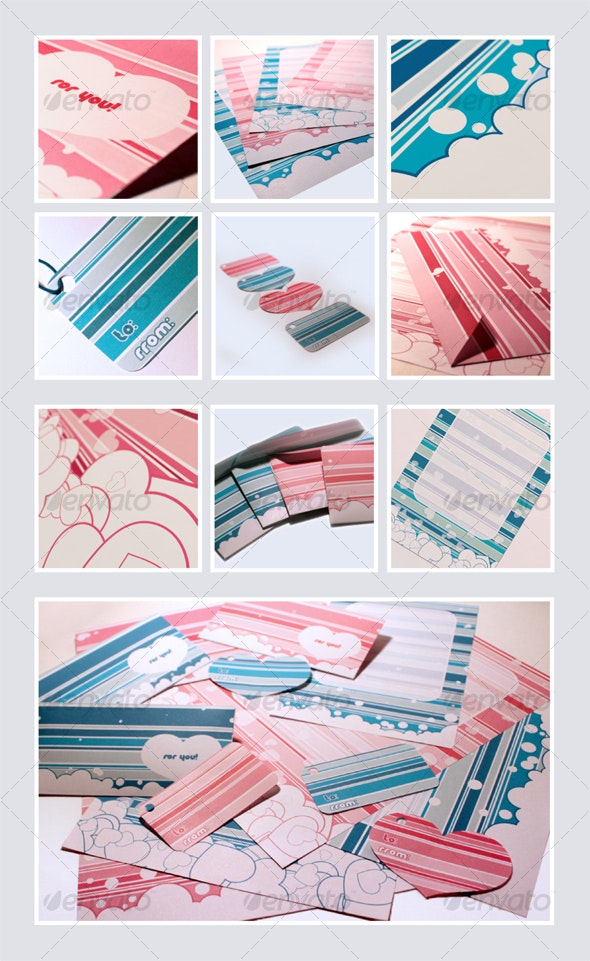 Valentines and birthday print pack