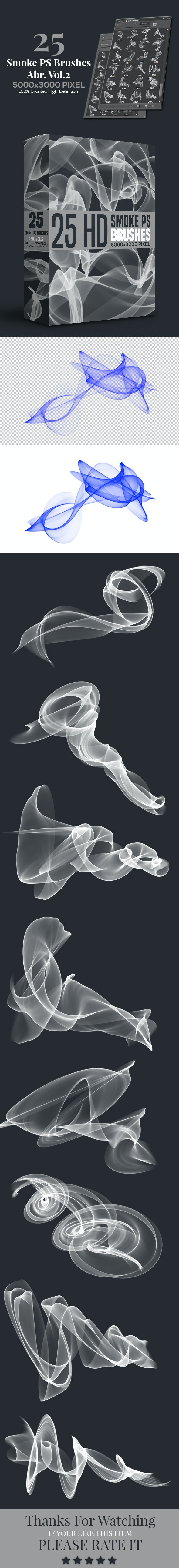 25 Smoke PS Brushes Abr. Vol.2 - Abstract Brushes