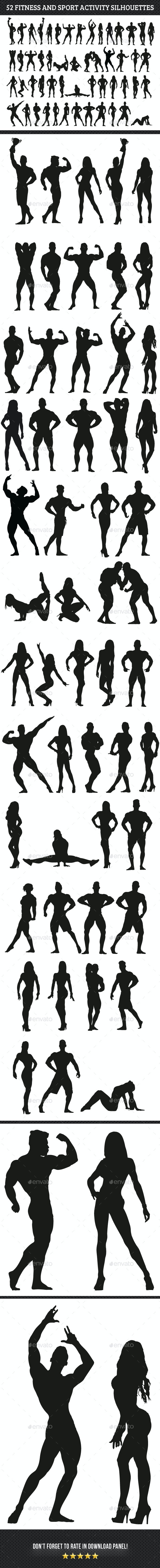 Fitness Silhouettes - Sports/Activity Conceptual