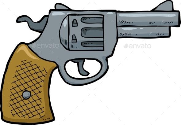 Cartoon Revolver Gun - Miscellaneous Vectors