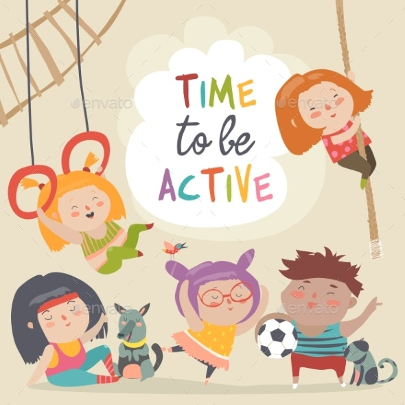 Happy Kids and Sport - Sports/Activity Conceptual