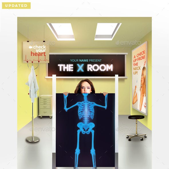 The X Room Flyer Template