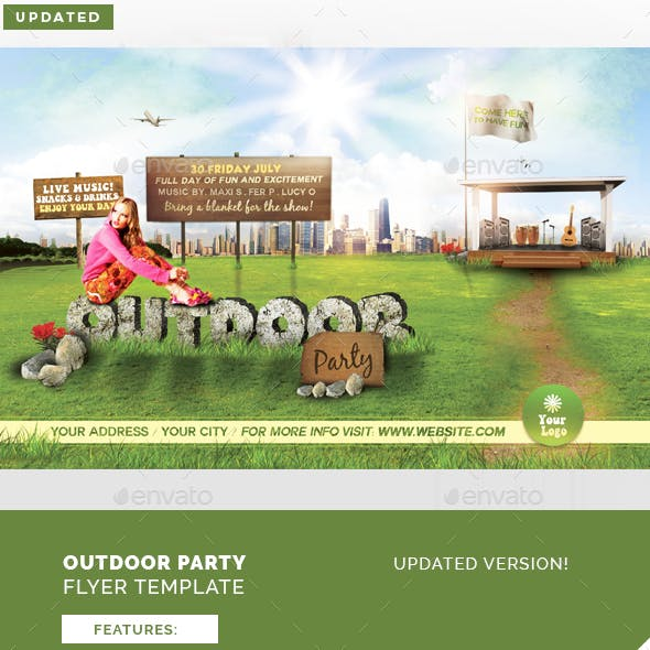 Outdoor Party Flyer Template