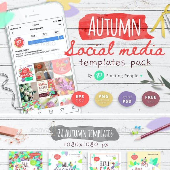 Autumn Social Media Templates Pack
