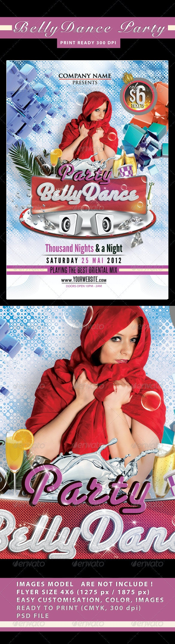 Belly Dance Party Flyer - Flyers Print Templates