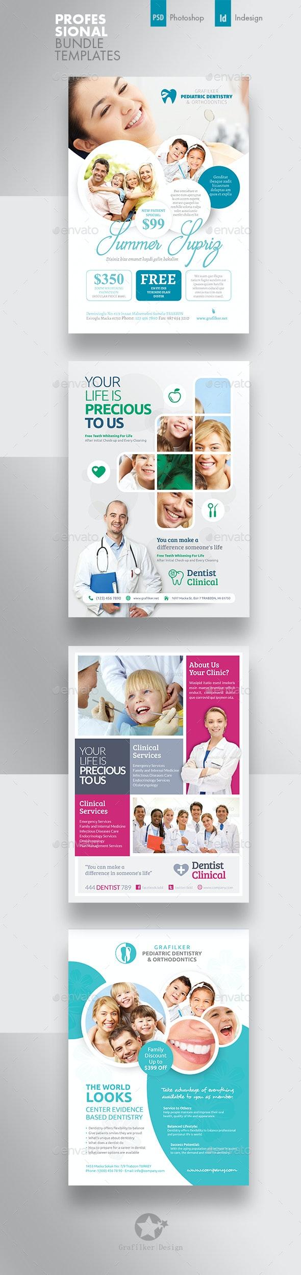 Dental Flyer Bundle Templates - Corporate Flyers