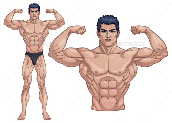 Male Bodybuilder Full Body - People Characters