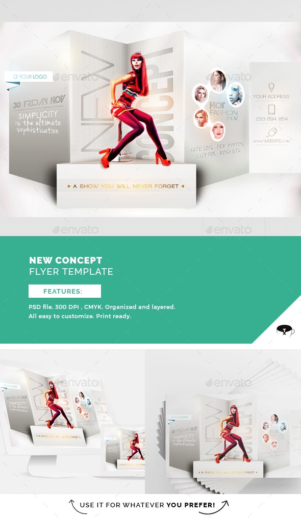 new concept flyer template by touringxx graphicriver. Black Bedroom Furniture Sets. Home Design Ideas