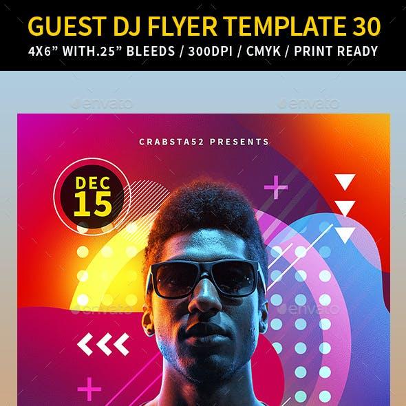 Guest DJ Flyer Template 30