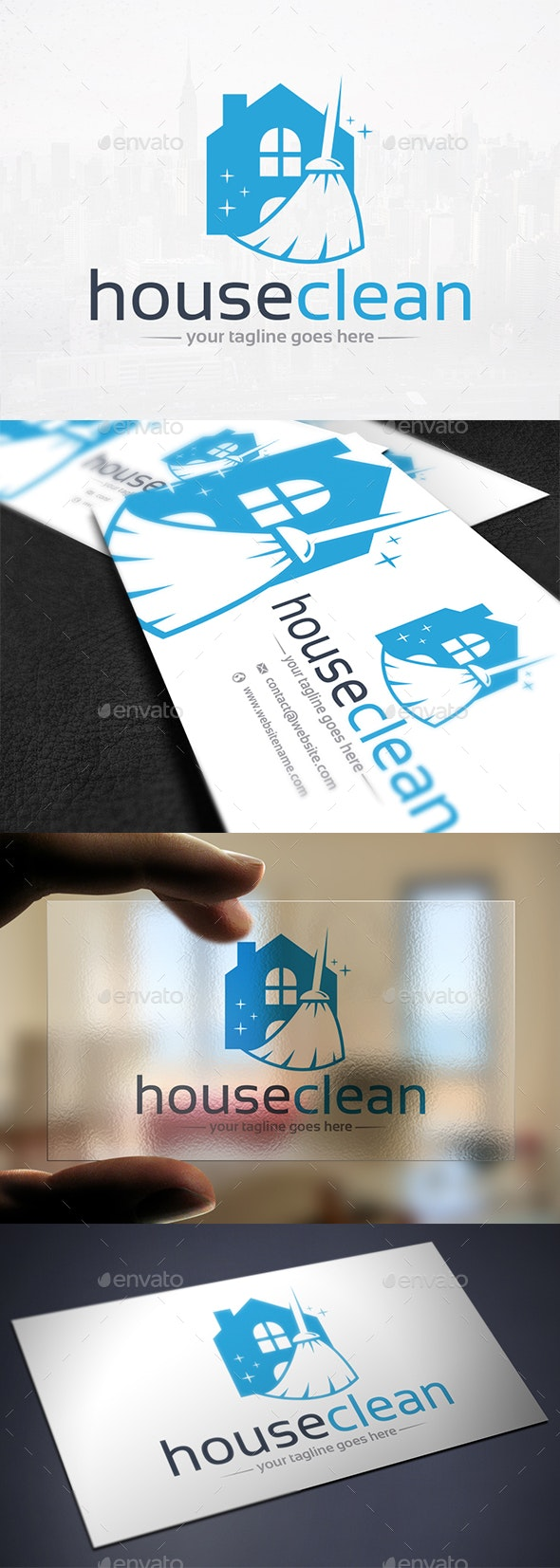 House Cleaning Logo Template - Buildings Logo Templates