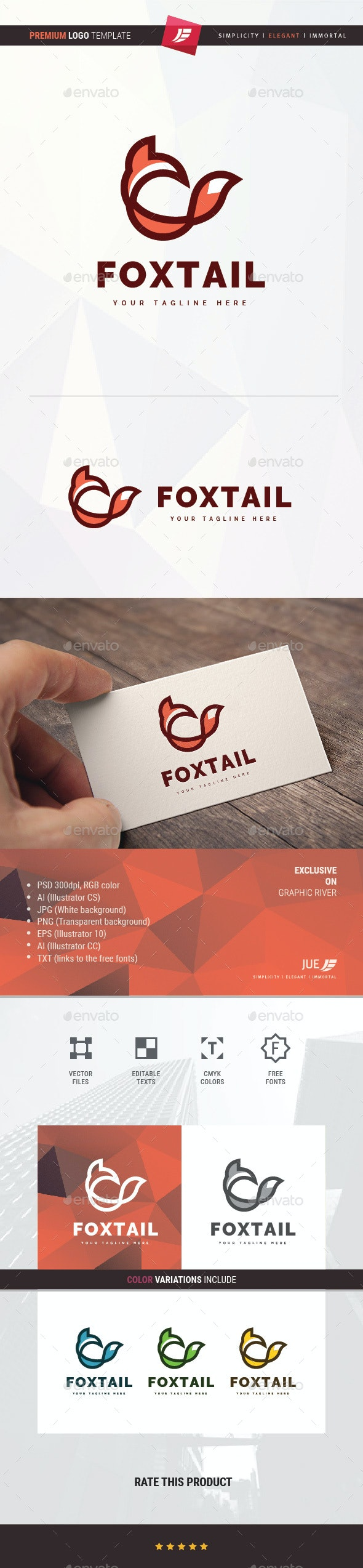 Fox Tail Logo - Animals Logo Templates