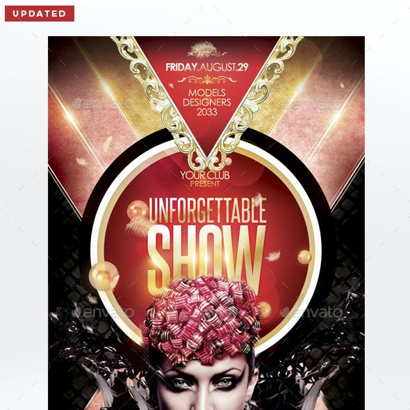 Unforgettable Show Flyer Template
