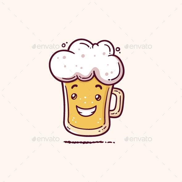 Beer Mascot - Food Objects