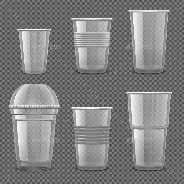 Empty Transparent Plastic Disposable Cups By Microvone Graphicriver