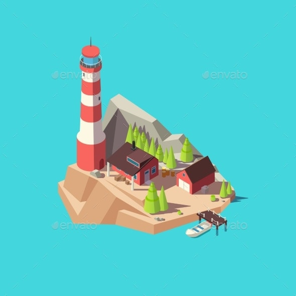 Isometric Lighthouse - Buildings Objects