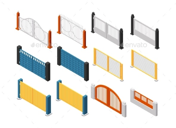 Isometric Fences - Man-made Objects Objects