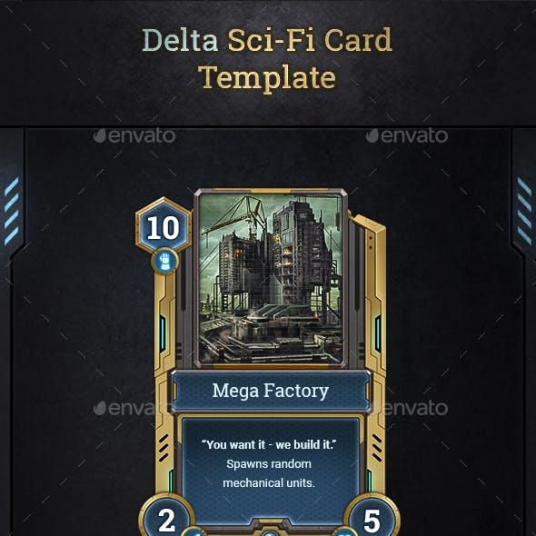 Delta Sci-Fi Card Template