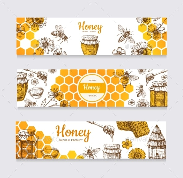 Honey Banners - Food Objects