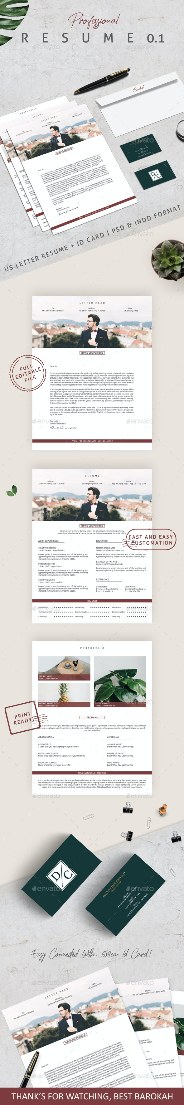 Professional Resume 01 - Resumes Stationery