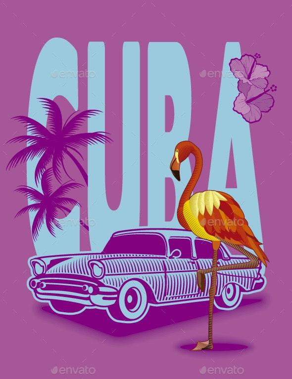 Cuba Background - Travel Conceptual
