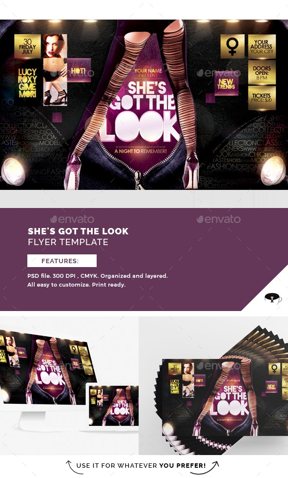 She's Got The Look Flyer Template - Clubs & Parties Events