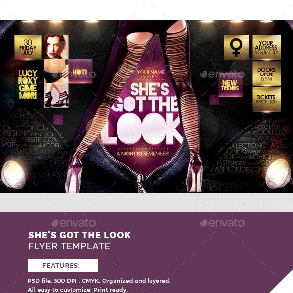 She's Got The Look Flyer Template