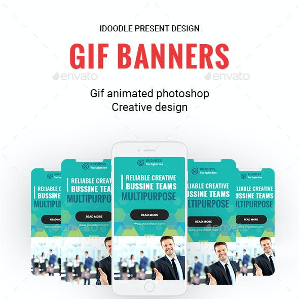 Animated GIF - Multipurpose, Business, Startup Banners Ads