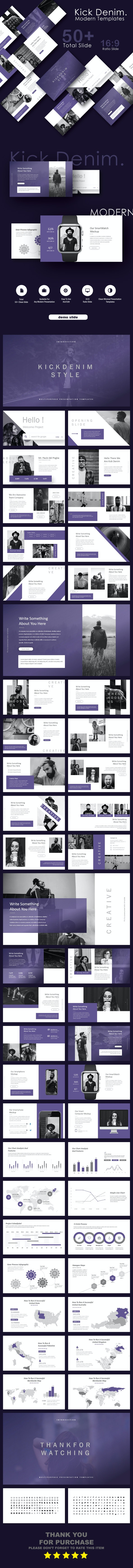 KickDenim Multipurpose Google Slide Templates - Creative PowerPoint Templates